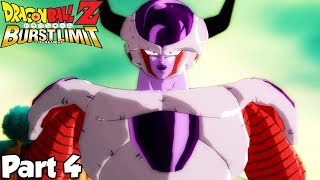 Dragon Ball Z Burst Limit - Lets Play (Part 4) Vegeta's Mighty Battle Against Lord Frieza!