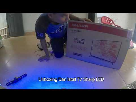 Unboxing and Install TV LED Sharp LC-32LE180i