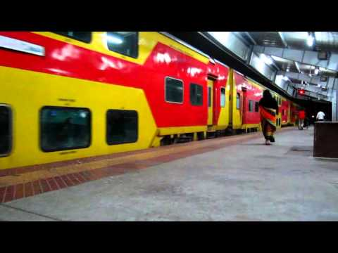 Double Decker Departure from Hyderabad Kacheguda - Indian Railways