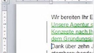 Word 2010: Gemeinsam arbeiten - Kommentar einfügen