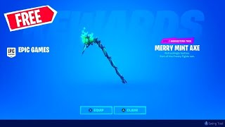 How To GET the  Minty Pickaxe For FREE❄️How to GET the MINTY PICKAXE Code FREE!