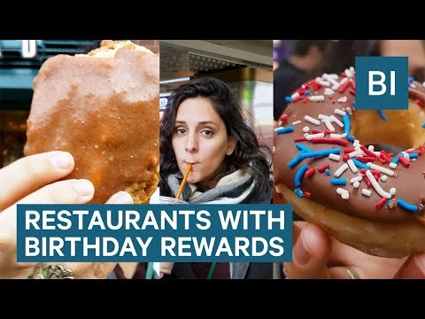 Where To Get Free Food For Your Birthday