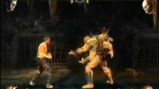 Mortal Kombat 9 Ladder mode  Johnny Cage  vs  Goro