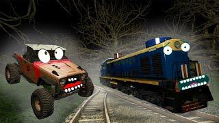 Что таит Чёрный старый Лес! Как спасутся Гоша и Чич? Страшилки про поезд и машины. Новые серии.