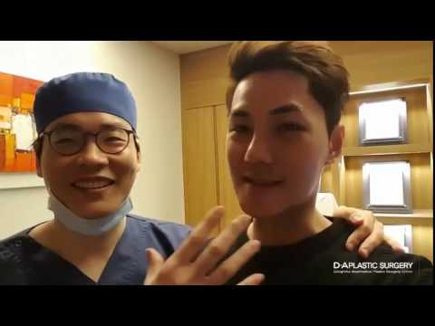 Dr. Sang-Woo Lee with his Singaporean patient! 10 days after plastic surgery!