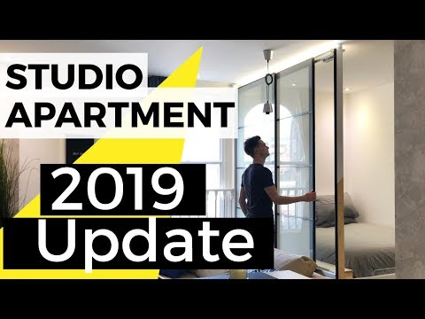 Studio apartment tour of updates and ideas - IKEA HACK Room divider update (February 2019)