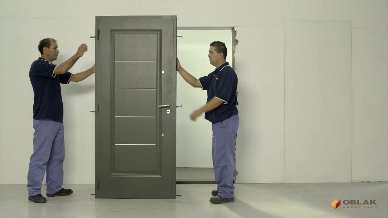 Oblak - Instalación de puerta exterior - Marco de chapa - En húmedo ...