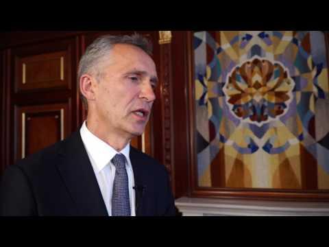 NATO's Jens Stoltenberg speaks to BBC on Ukraine accession chances