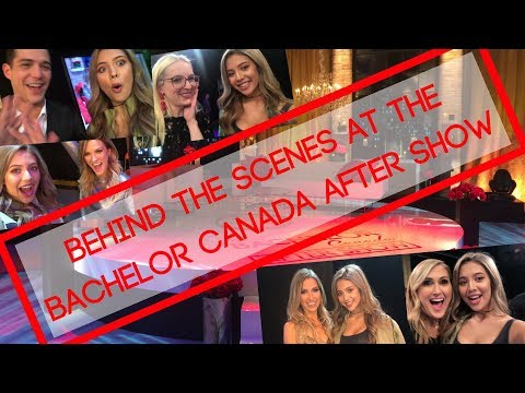 BEHIND THE SCENES AT THE BACHELOR CANADA AFTER SHOW VLOG