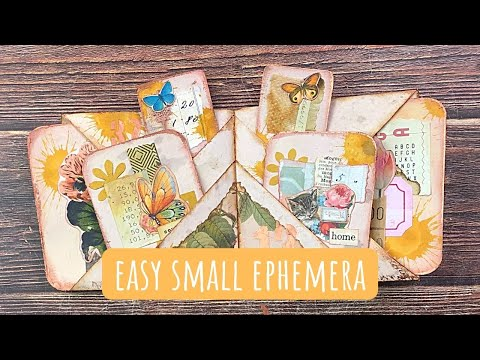 Easy Small Ephemera Using Your Tiny Scraps And Leftover Digital Downloads