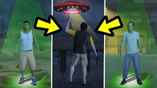 WHAT HAPPENS IF THEY STAND UNDER EACH UFO? (GTA 5)