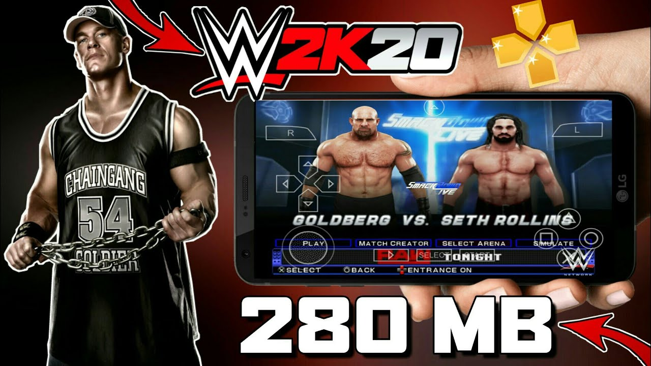 280 Mb Download Wwe 2k20 Ppsspp Game For Android Just 280 Mb Working In All Devices Youtube