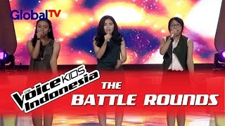 "Kaneishia vs Dalillah vs Dian ""All I Ask"" I The Battle Rounds I The Voice Kids Indonesia 2016"