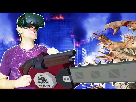 WIELDING THE ULTIMATE CHAINSAW SHOTGUN IN THE VR APOCALYPSE! - Undead Development HTC VIVE Gameplay