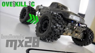 4s LiPo Stampede 4x4 Gets Some New Shoes! | P-L Badlands MX28  | Overkill RC