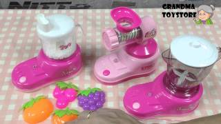 Unboxing TOYS Review/Demos - Part 1 Fun Cook with Mommy Kitchen Set - Blender, noodle maker, mixer