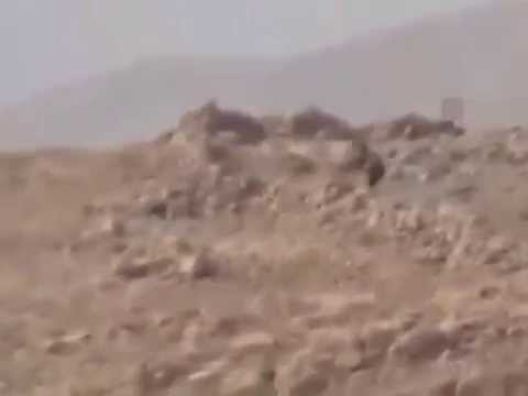 Kurdish HPG fighters ambush  ISIS soldier on Mount Sinjar