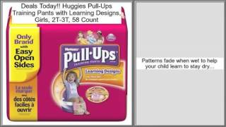 Huggies Pull-Ups Training Pants with Learning Designs, Girls, 2T-3T, 58 Count Rev