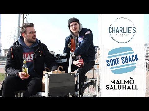 HAMBURGERTEST I MALMÖ | Cykelrecension av Charlie's Burger, Surf Shack & Malmö Saluhall
