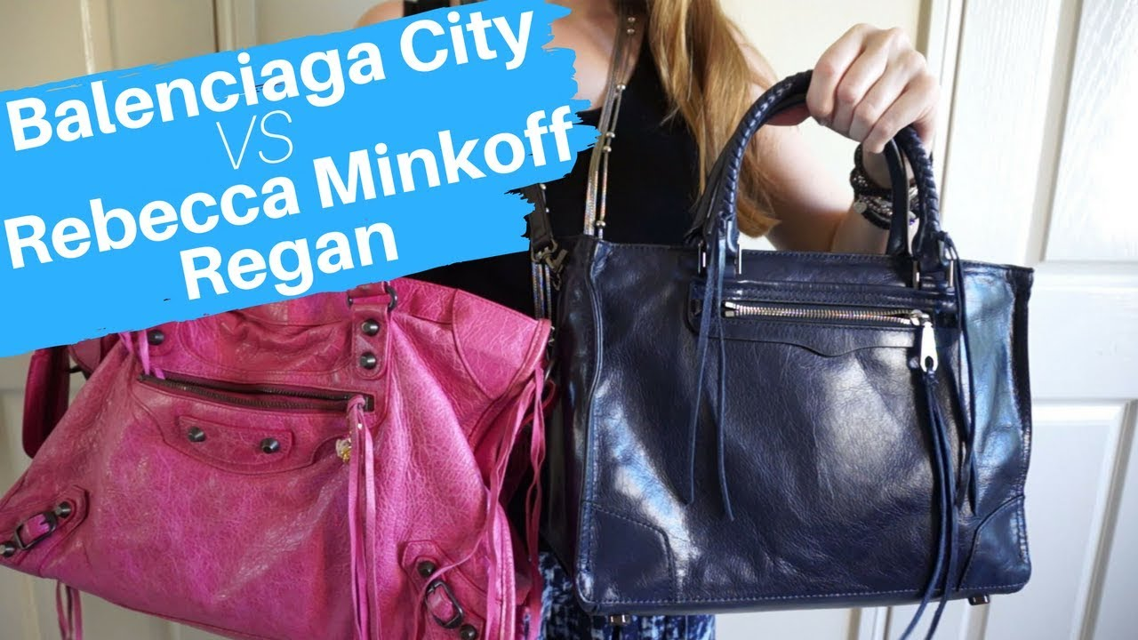 ad8e723c97 Balenciaga City and Rebecca Minkoff Regan Satchel Bag Comparison   Similarities and Differences