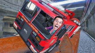 Das passiert, wenn die Feuerwehr auf einen fahrenden Zug springt | GTA Online