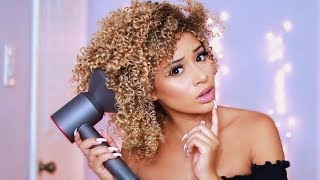 5 Tricks To Diffusing Curly Hair *NO FRIZZ*