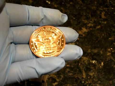 Copper Bullion Rounds Fine .999 2012 Morgan Head