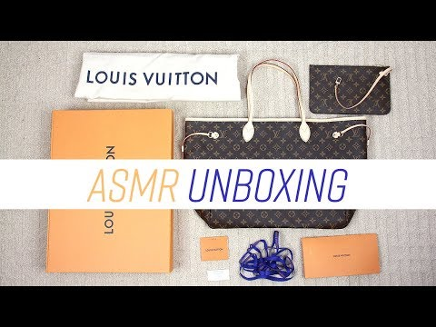 ASMR Unboxing Louis Vuitton Neverfull GM (No Talking)