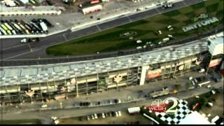Raw video: Chopper 2 over Daytona International Speedway crash scene