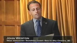 MP John Weston Says Canadians in Solidarity with the people of Iran