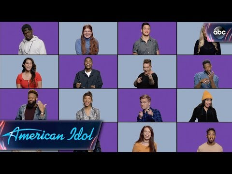 Top 24 Sing Idol Theme Song Mashup - American Idol on ABC 2018