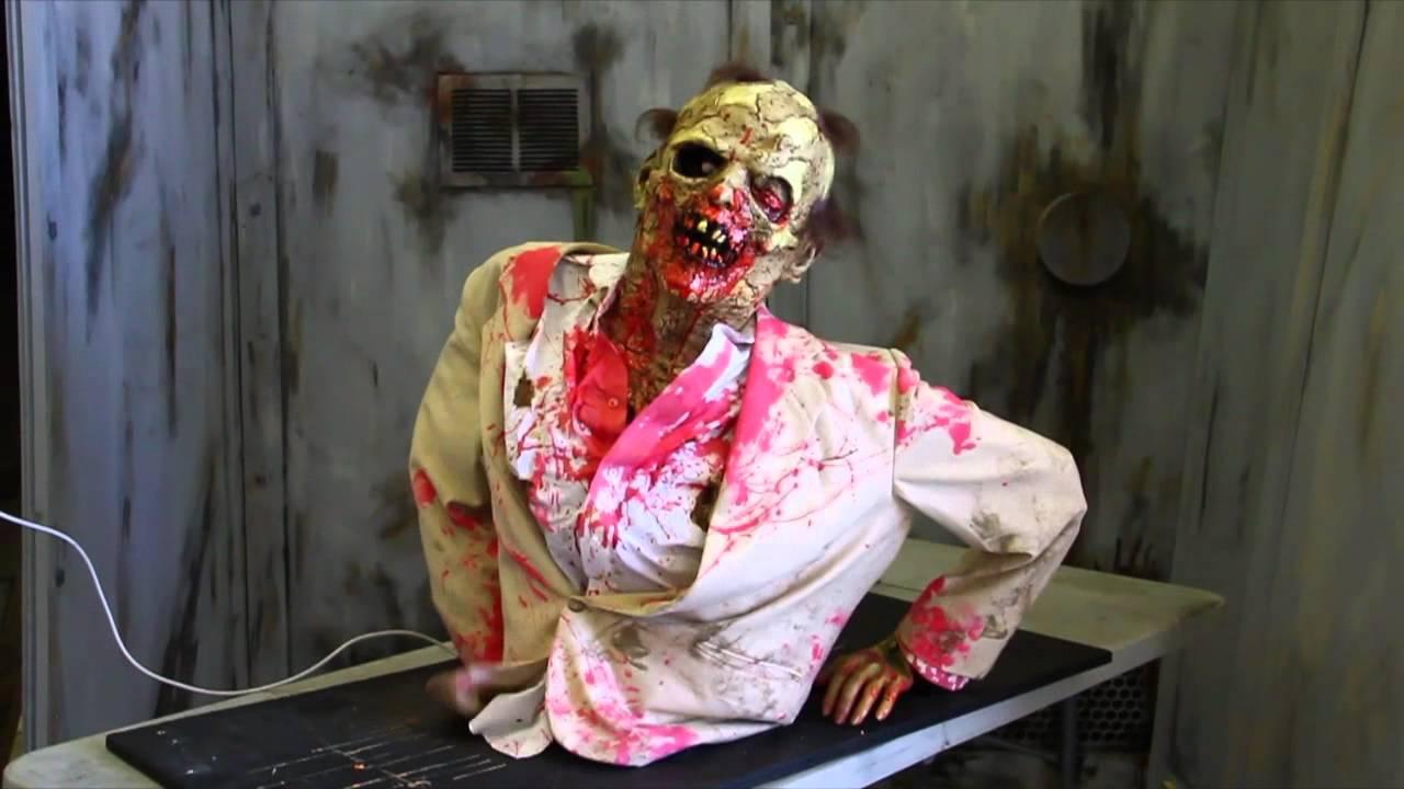 pneumatic zombie prop zombie crawler animated halloween prop halloween fx props youtube - Zombie Props