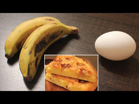 1-egg-2-banana-cake-for-breakfast-|-1-egg-cake-on-pan-|only-4-ingredient-breakfast-recipe