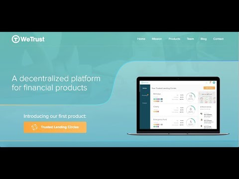WeTrust (TRST) | Trusted Lending Circles Powered By Blockchain