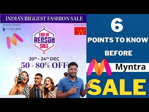 Myntra End of Reasson sale 2020 | Myntra Coupons | Cashbacks & More save more in Myntra sale