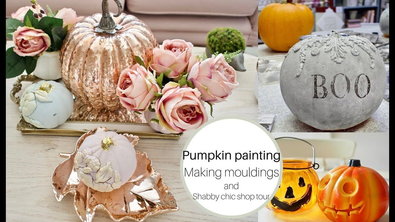 Shabby Chic Shop Painting Pumpkins Make Your Own Mouldings And Shabby Chic Shop Tour
