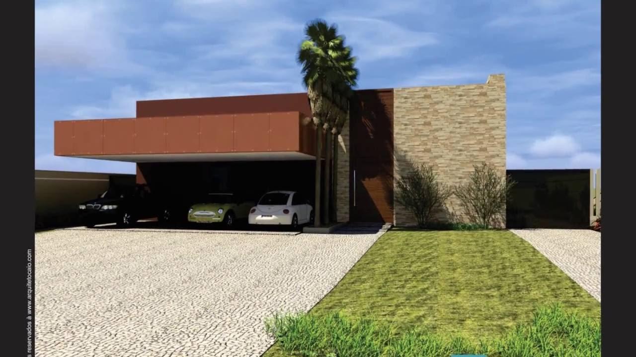 Projeto casa moderna terreno com declive estrutura for Casas contemporaneas modernas