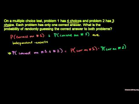 Example: Getting two question right on an exam   Khan Academy
