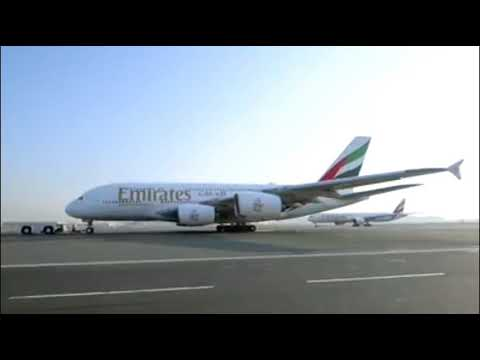 Long journey flight Emirates