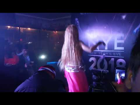 Happy New Year 2018 Mg road belly dance Nolimmits Lounge Club,  M G road Bangalore