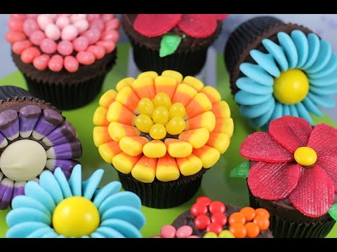 Easy Flower Cupcakes Candy Flowers W No Fancy Cutters My