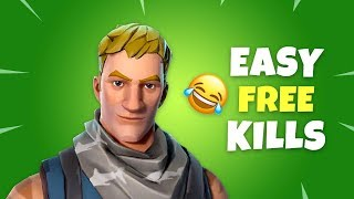 How to Get EASY FREE KILLS and Complete Any Challenge - Fortnite Battle Royale