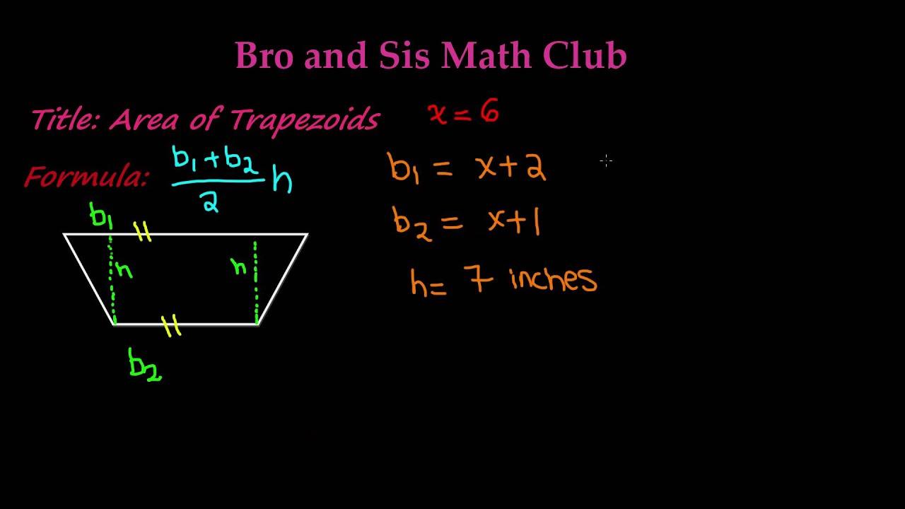 Area Of Trapezoids 7th Grade Math