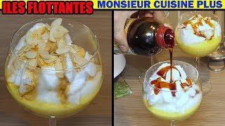 ile flottante monsieur cuisine plus thermomix blanc en neige et crème anglaise recette cuistovideo