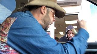 DRIVE THRU PRANK...MUMBLES the COWBOY!!!!