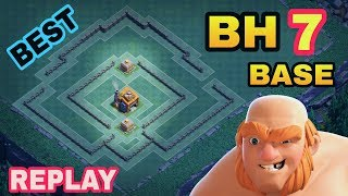 BEST BUILDER HALL 7 BASE W/ PROOF | COC BH7 TOP TROPHY BASE LAYOUT | CLASH OF CLANS