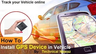 How to install a GPS Device in Car || Installing a Car GPS Tracker || By Amrish || Lonely Night