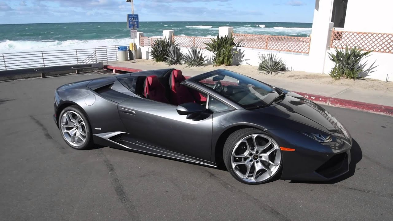 lamborghini huracán spyder convertible in action - youtube