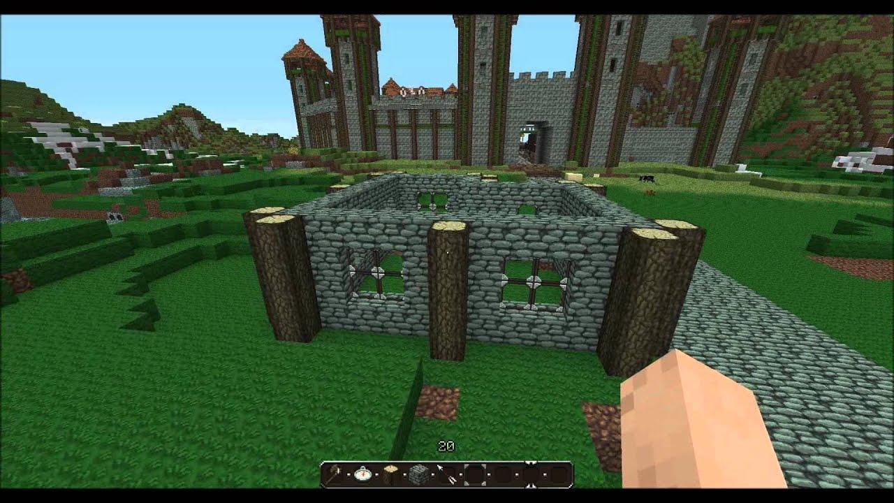 minecraft tutorial 1 mittelalterliche h user bauen part1 youtube. Black Bedroom Furniture Sets. Home Design Ideas
