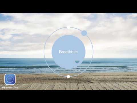 2 min Breathe Bubble |  Breathe Exercises - Sea - Think Nothing Exercise I Breathe In Calm App